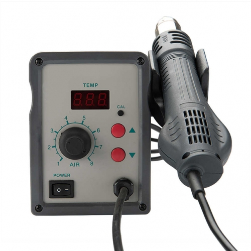 QUICK 858D Lead Free Adjustable Hot Air Heat Gun with Helical Wind 580W SMD Rework Station