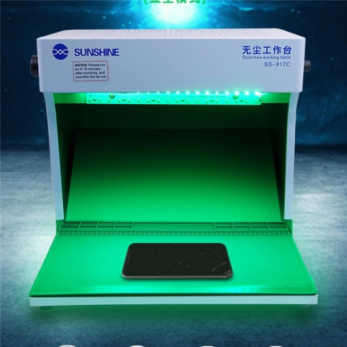 SUNSHINE SS-917C Dust Free Working Room Anti Dust Working Bench Adjustable Wind Cleaning Room For Phone Refurbish Repair