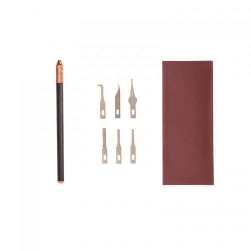 The Sandalwood Knife Kits For BGA Motherboard Repair (3 Pcs Handle with 6 Pcs Blades)
