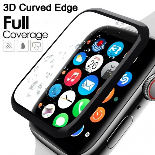 3D Tempered Glass Screen Protector Smartwatch All-around Bumper Protective Cover Replacement