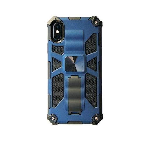 Shockproof Protective Phone Case With Kickstand For iPhone XR Blue