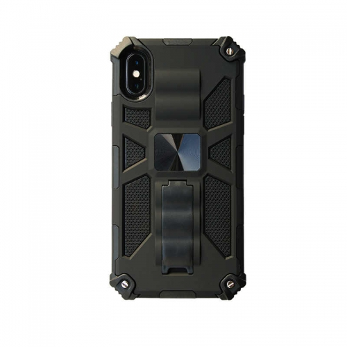 Shockproof Protective Phone Case With Kickstand For iPhone XR Black