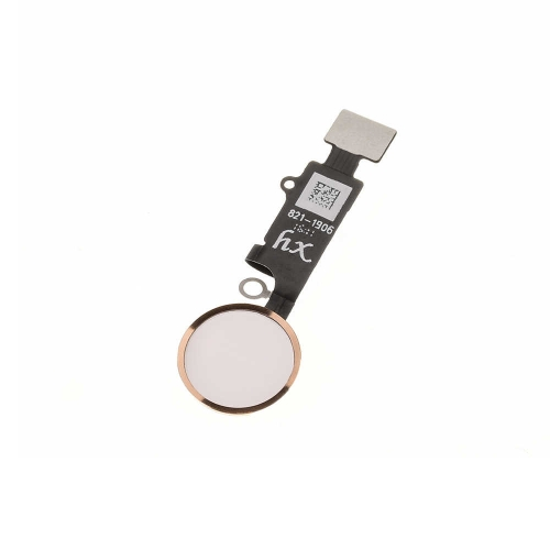 4th Version Universal Home Button With Flex Cable Assembly Replacement For iPhone 7/7 Plus/8/8 Plus - Gold