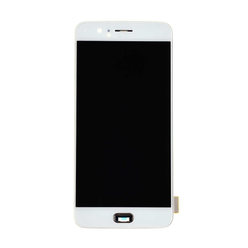 OLED Display and Touch Screen Digitizer Assembly with Frame Replacement For OnePlus 5 - White-AA