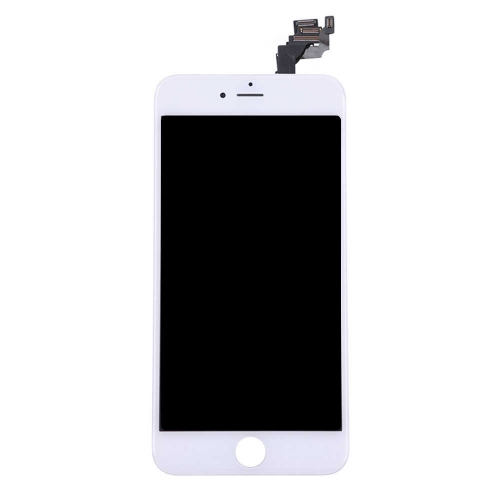 LCD Display and Touch Screen Digitizer Assembly with Frame and Components Replacement For Apple iPhone 6 Plus- White-AA