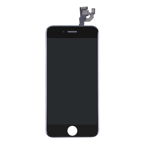 LCD Display and Touch Screen Digitizer Assembly with Frame and Components Replacement For Apple iPhone 6 Plus - Black - AA