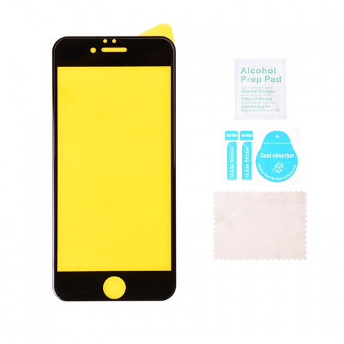 Reinforcement Tempered Glass Screen Protector For iPhone 6/6S/7/8/SE2/6P/6SP/7P/8P Black-AAA