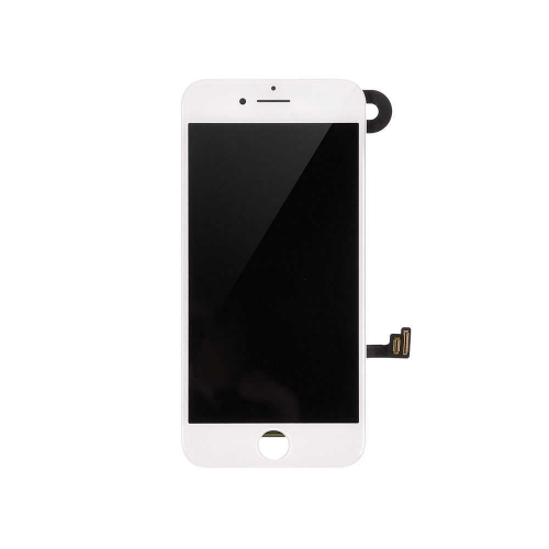 LCD Display and Touch Screen Digitizer Assembly With Frame and Components Replacement For Apple iPhone 8 - White-A