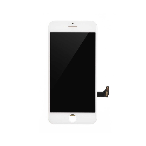 Basic LCD Display and Touch Screen Digitizer Assembly with Frame Replacement For Apple iPhone 8- White-A