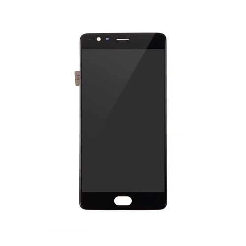 OLED Display and Touch Screen Digitizer Assembly with Frame Replacement For OnePlus 3/3T - Black - AA