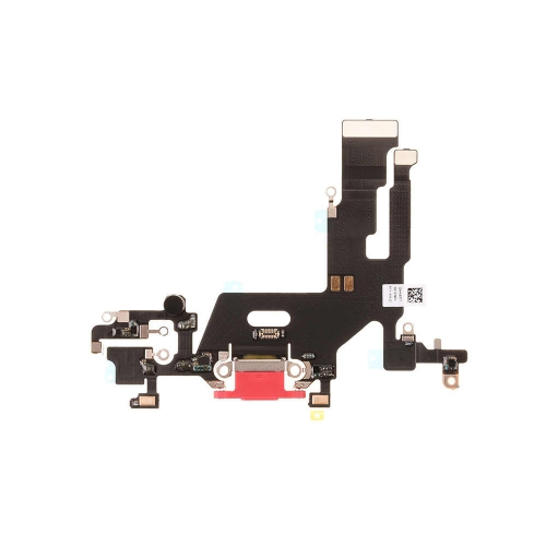 Charging Port Flex Cable Replacement For Apple iPhone 11 - Red- OEM NEW