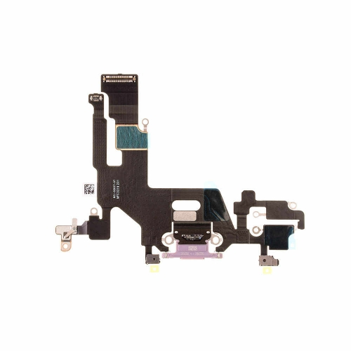 Charging Port Flex Cable Replacement For Apple iPhone 11 - Purple - OEM NEW
