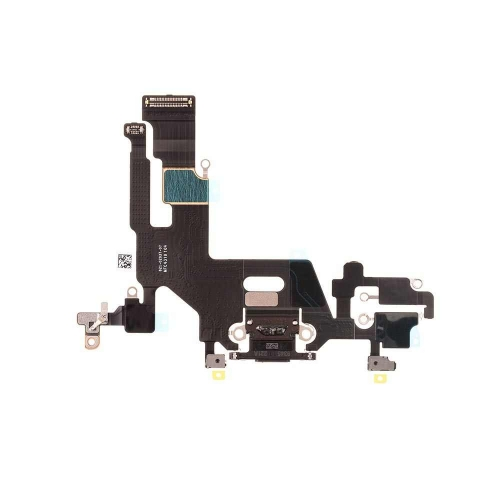 Charging Port Flex Cable Replacement For Apple iPhone 11 - Black