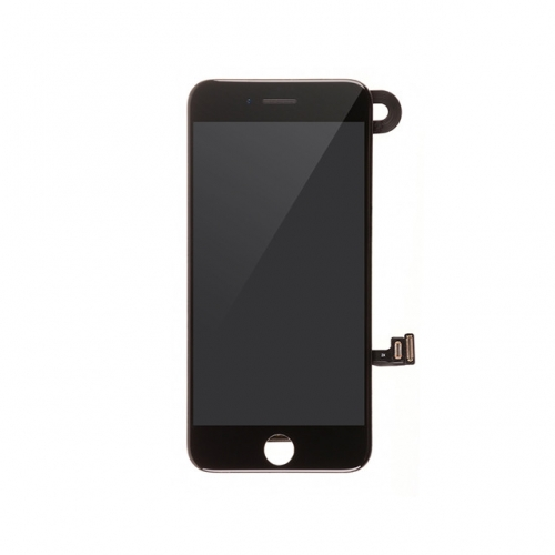LCD Display and Touch Screen Digitizer Assembly With Frame and Components Replacement For Apple iPhone 8 Plus  - Black - A