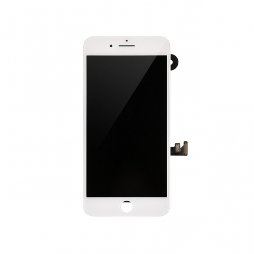 LCD Display and Touch Screen Digitizer Assembly with Frame and Components Replacement For Apple iPhone 8 Plus - White - AA
