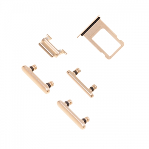 Side Button Set with SIM Card Tray For Apple iPhone 6 Plus- Gold-OEM NEW