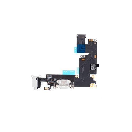 Charging Port Flex Cable Replacement For Apple iPhone 6 Plus - White-AA