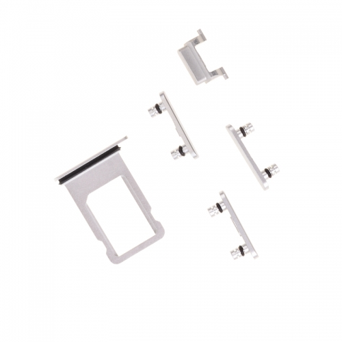 Side Button Set with SIM Card Tray For Apple iPhone 6s Plus - Silver- OEM New