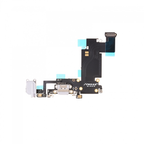 Charging Port Flex Cable Replacement For Apple iPhone 6s Plus- White - AA