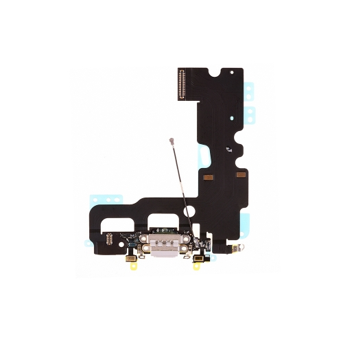 Charging Port Flex Cable Replacement For Apple iPhone 7 - White- AA