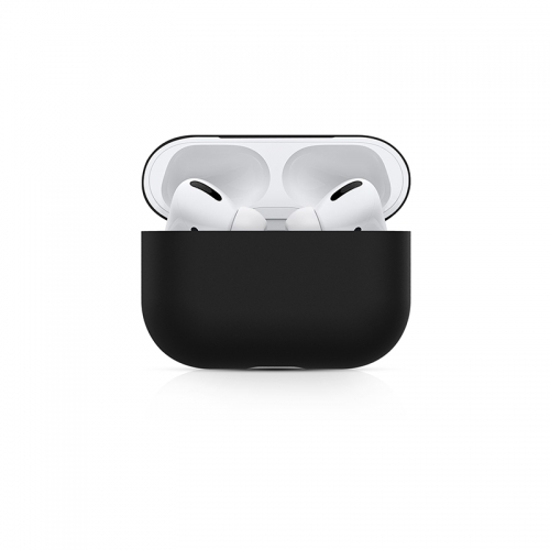 Ultra-thin Liquid Silicone Protective Airpods Pro Case - Black-AAA