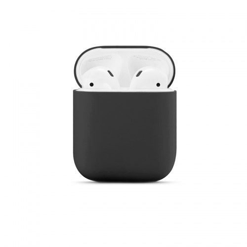 Ultra-thin Liquid Silicone Protective Airpods Case - Black-AAA