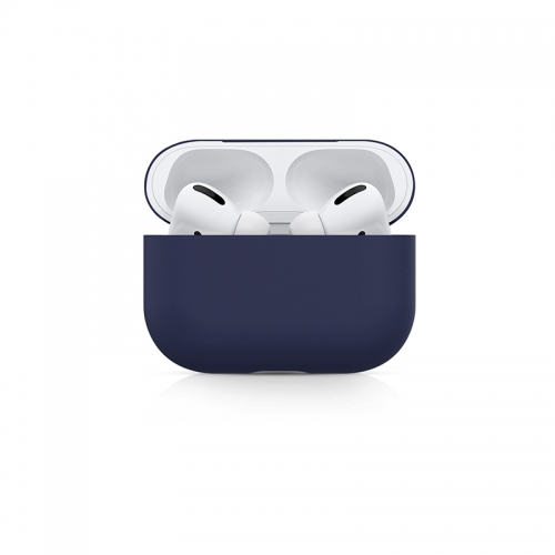 Ultra-thin Liquid Silicone Protective Airpods Pro Case - Horizon Blue-AAA