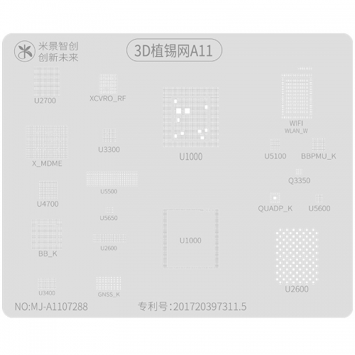 MJ  A11 3D BGA Reballing Stencil For iPhone 8/8+/X