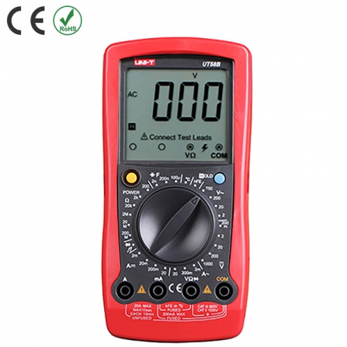 UNI-T UT58B UT58C UT58D Digital Multimeter Data Hold Manual Range AC DC Voltmeter Ammeter Ohmmeter