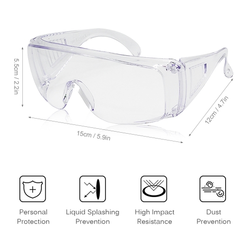 Personal Protective Cycling Glasses Eyewear with Anti Fog Scratch Resistant Lens with Prescription Glasses
