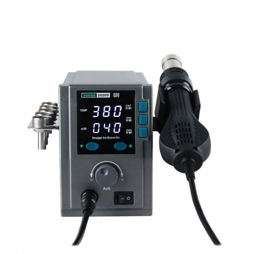 SUGON 2020D 750W/ heat gun lead free hot air soldering station microcomputer temperature Rework Station+6 Welding head
