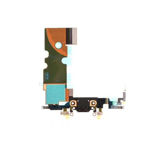 Charging Port Flex Cable Replacement For Apple iPhone 8- Black - OEM NEW