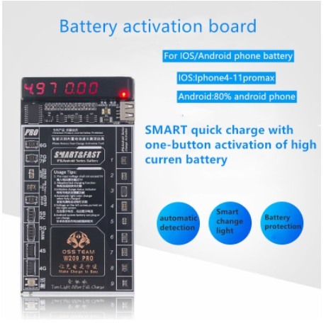 W209 Pro 2 in1 Battery Activation Board for iPhone 4 - 11 Pro Max