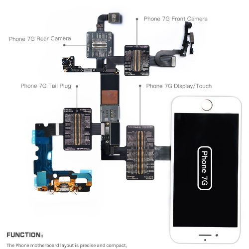 Qianli Tool iBridge Test Cable for iPhone X /8P/ 8G/ 7P/ 7/ 6SP /6S/ 6P/ 6 Motherboard Fault Display Touch Tail Plug Rear Camera Repair Test Line