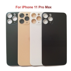 Back Glass Cover With Big Camera Hole Replacement For Apple iPhone 11 Pro Max - Silver/Gold/Midnight Green/Space Grey - AA