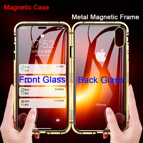 360 Full Protection Magnetic Double Glass Case For iPhone 11,11 Pro,11 Pro Max Double Glass Cover Glass Shell