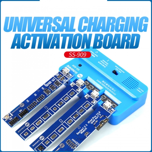 Relife RL-909 Universal Mobile Phone Charging Activation Board Battery Cable Test Activation for iPhone 4S - iPhone X iPad Samsung