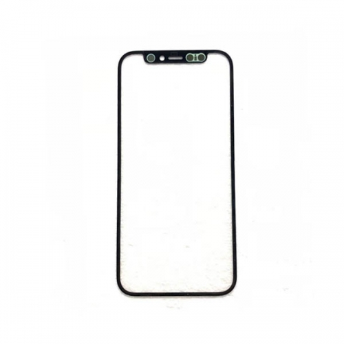 Glass Lens with OCA For Apple iPhone 12 Mini - Black - AAA