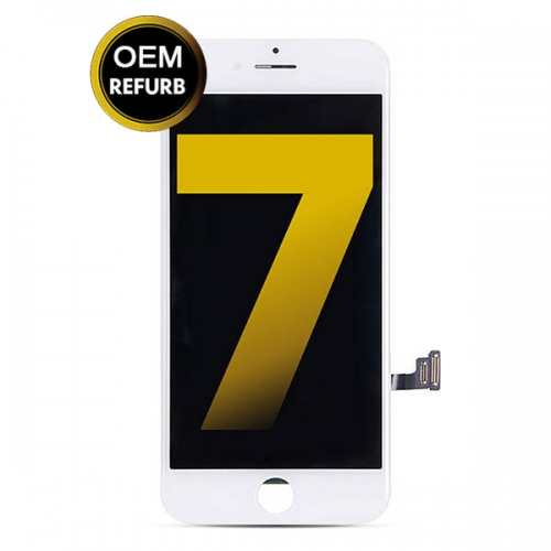 LCD Display and Touch Screen Digitizer Assembly With Frame Replacement For Apple iPhone 7 - White - OEM Refurb
