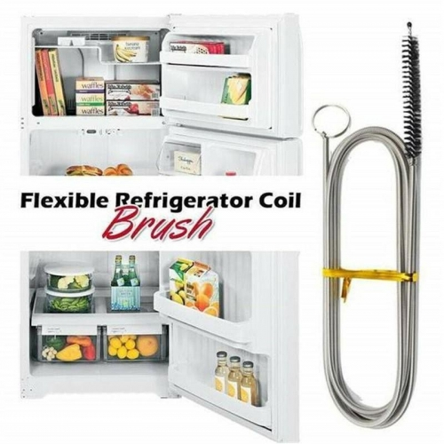Free shipping Long Flexible Refrigerator Scrub Coil Brush Cleaning Refrigerator Drain Hole Dredger Tools Water Freezing Water Dredging Tool