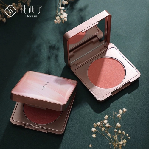 Free shipping Florasis Cream Blush Makeup Peach Cheeks Shimmer Moisturizing Blusher For Face China Cosmetics Skincare Flower West