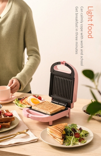 Free shipping 650W Electric Sandwich Maker Breakfast Machine 200V Egg Cake Oven Sandwichera Electric Toster Multifunctional