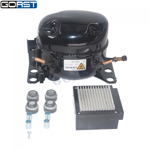 12V 24V DC Car Refrigeration Air Compressor Fridge Freezer Marine Solar QDZY60D R600A