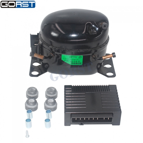 12V 24V DC Car Refrigeration Air Compressor Fridge Freezer Marine Solar QDZH25G R134A