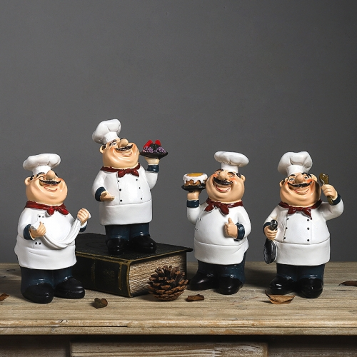 Resin Chef Figurines Kitchen Decor Home Restaurant Ornaments