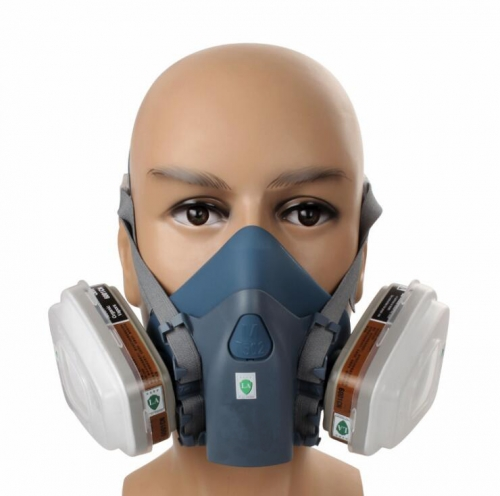 Trudsafe 7502 Half Face Respirator Mask, Including Filters