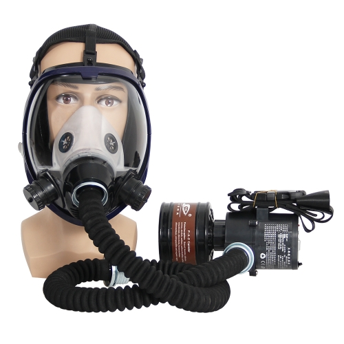 Full Face Respirator Electric Constant Air Flow System for Painting, Welding Dust and Chemaical Use