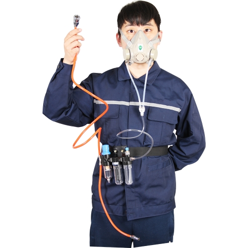 Three-In-One Function Supplied Air Fed Respirator Kit System Half Face Gas Respirator