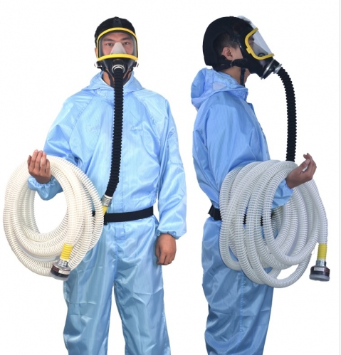 10M Long Tube Pipe Full Face Gas Air Respirator W/C Cartridge Supplied Air