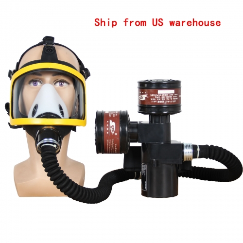 Full Face Respirator Electric Constant Air Flow System for Painting, Welding Dust and Chemical Use